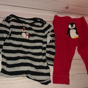 Gender neutral penguin outfit 9 months
